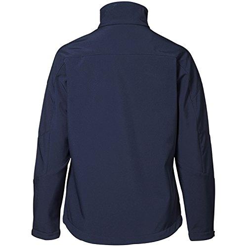 Damen Softshell Jacke mit Kontraststreifen Marineblau