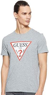 Guess Cn SS Original Logo Camiseta de Tirantes, , X-Large para Hombre