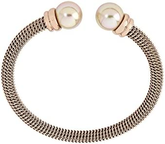 Majorica - Brazalete, 12 mm ronda perlas de salmón