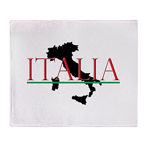CafePress - Italia: Italienische Stiefel - Weiche Fleece-Überwurfdecke, 127 x 152 cm Stadion-Decke 50x60 weiß -