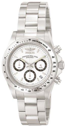 Invicta 9211 Speedway Unisex Uhr Edelstahl Quarz weißen Zifferblat - Pate Uhr
