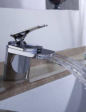 Hjkdgh robinet contemporain Cascade Laiton chromé