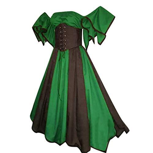 Billige Mittelalterliche Kleider - Laile Damen Kleid Reizvolles Bandeau Mittelalterlichen