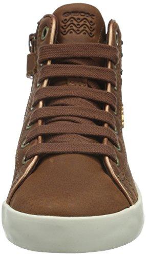 Geox Kiwi C, Sneakers Hautes Fille Braun (COGNACC6001)