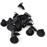 plastico remache - SODIAL(R)Coche 8mm Agujero Plastico Negro Remaches Parachoques Sujetador De Puerta Agarres 20 unidades