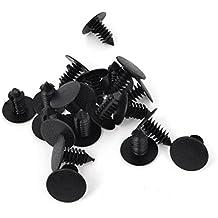 plastico remache - SODIAL(R)Coche 8mm Agujero Plastico Negro Remaches Parachoques Sujetador De