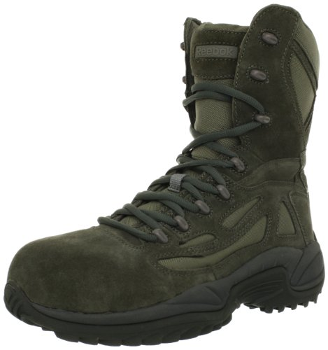 Reebok Work Men's Rapid Response RB8990 Work Boot,Sage Green,12 M US Sage Green Boot