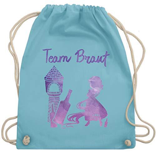 JGA Junggesellinnenabschied - JGA Team Braut Prinzessin - Unisize - Hellblau - WM110 - Turnbeutel & Gym Bag