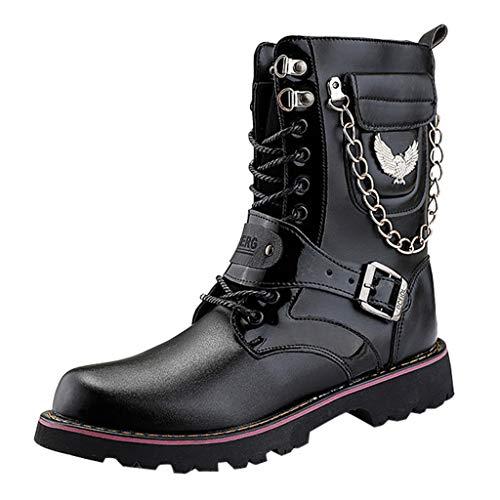 Scarpe Invernali da Uomo Scarpe da Corsa Antiscivolo Sneakers Stivali da Passeggio Stivali da Combattimento Manica Lunga Fibbia in Metallo Stivali da Neve FRESCHI