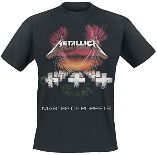 Metallica Master of Puppets European Tour '86_Men_BL_TS:1XL...
