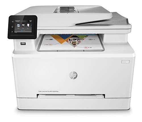 HP Color LaserJet Pro M283fdw Multifunktions-Farblaserdrucker (Drucker, Scanner, Kopierer, Fax, WLAN, LAN, Duplex, Airprint) weiß