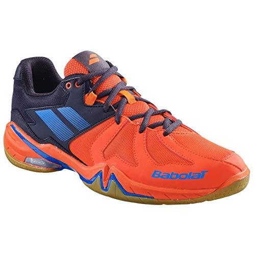 Babolat Shadow Spirit - Scarpe da Badminton/Racquetball/Squash, da Uomo, Colore: Nero/Rosso, Rosso (Sandali Adventure Seeker, Punta Chiusa - T - Bambini), 44.5 EU