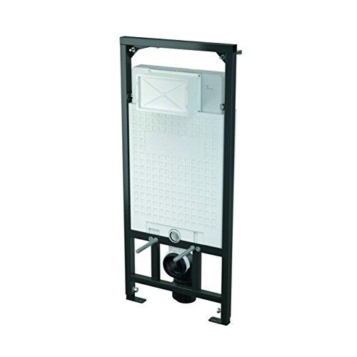 WC Vorwandelement inkl. Drückerplatte zur WANDMONTAGE Unterputzspülkasten, Bauhöhen 85 100 120 cm, Größe:100cm;Drückerplatte:eckig-M370 - weiß