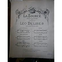 """Naïla. N° 3. Ballet de l""""opéra """"la source"""". Deuxième acte. Editions Henri Heugel. Paris Vers 1950. (Musique, Partition, Piano, Transcription, Classique)"""