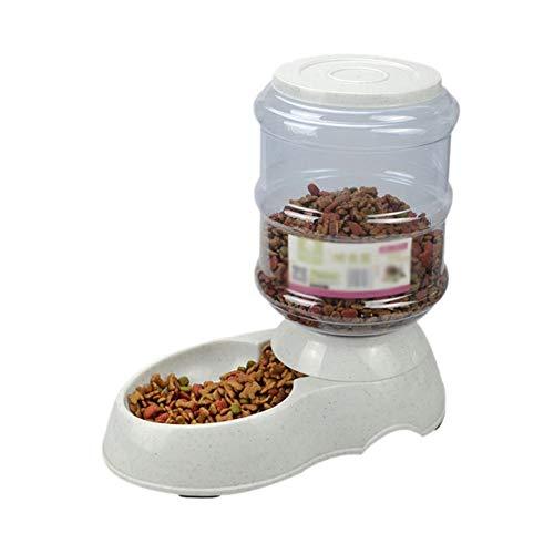 ZYPDCW Hundenapf 3.5L Hundeautomatische Futtertränken Für Katzen Futtertrog Für Hunde Wassertrinker Flaschentränken Für Katzen Wasserspender, Lebensmittel - Metall Pet Food Storage