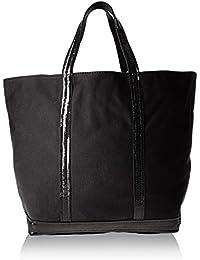 Vanessa Bruno Femme Cabas medium + -coton et paillettes, Noir (999 Noir) d612694017e