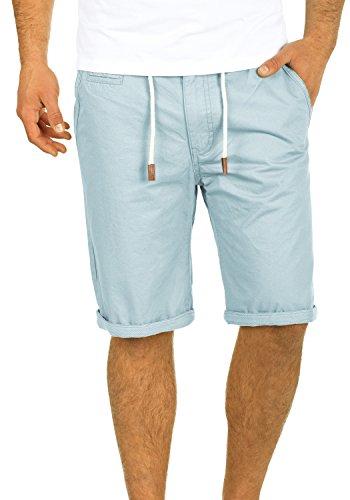 Blend Kaito Herren Chino Shorts Bermuda Kurze Hose Mit Kordel Aus 100% Baumwolle Regular Fit, Größe:M, Farbe:Soft Blue (74641) - China Männer