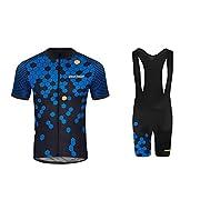 fd08ed7923fe Uglyfrog Set da Ciclismo Professionale con Maglia a Mezza Manica e  Salopette con Pantalone Imbottito in Gel 3D DTMX03F