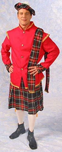 Scottish Lad Kilt Jacket Costume Adult Small