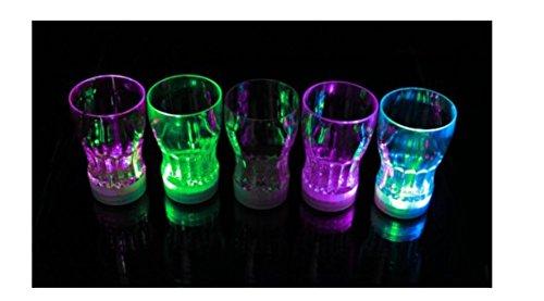 cht Auto Farbe ändern blinkende Bier Becher coke-cola Saft Drink Cup für Party Bar Deko ()