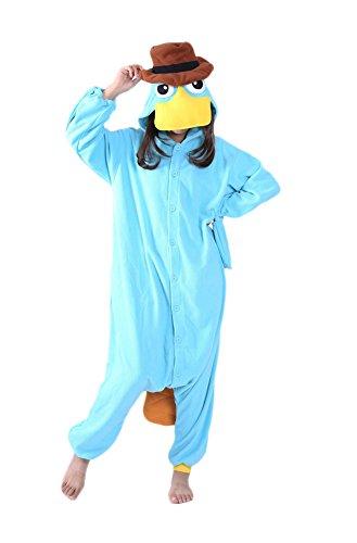 Engerla Schnabeltier-Schlafanzug, auch für Halloween, Cosplay; Tierkostüm für Erwachsene