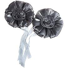 Malloom®1 par flor rosa ventana cortina tieback hebilla abrazadera gancho cierre hogar decoración (gris)