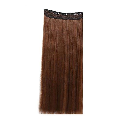 Extensions de cheveux longues droites - TOOGOO(R) One Piece Long nouveau droit raide 5 Clips Clip dans les extensions de cheveux 26 \\