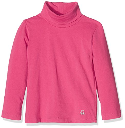 united-colors-of-benetton-3dr6c2458-camiseta-de-cuello-alto-para-ninas-rosa-rosa-12e-12-18-meses-tal
