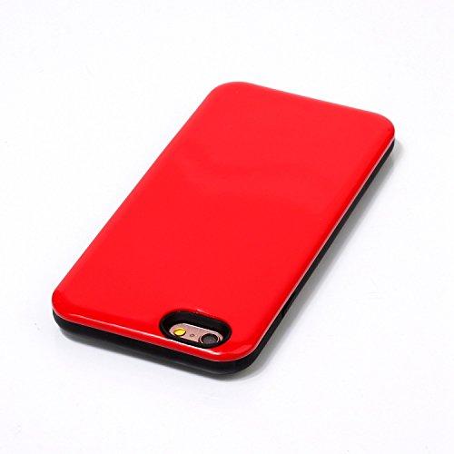 iPhone Case Cover IPhone 6S Fall-Abdeckung, feste Farben-harte rückseitige schützende Plastikabdeckung für Apple IPhone 6S ( Color : Blue , Size : IPhone 6S ) Red