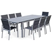 Amazonfr Table Jardin Aluminium Avec Rallonge Cuisine Maison