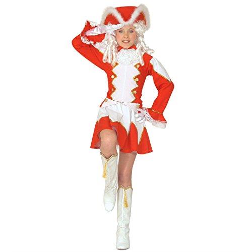 Kinder Garde Kostüm rot Funkenmariechen Kinderkostüm S 128 -