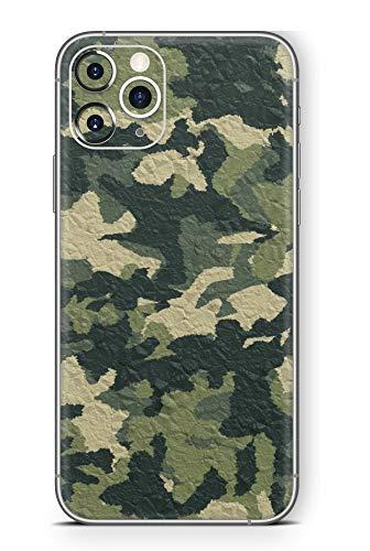 Skins4u Ultra Slim Schutzfolie für iPhone 11 Pro Skins Matte Oberfläche Aufkleber Skin Klebefolie Kratzfest Case Cover Folie Wood Camo Crumble