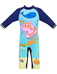 Peppa Pig Boys George Pig Swimsuit Ages 18 Months To 7 Years