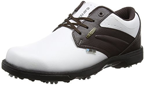 Hi-Tec Men's Dri-tec Classic Golf Shoes - White (White/Brown 011), 10 UK (44 EU)