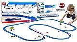 StrMy Pista Treno Radiocomandata a Batteria Grande cm.513 Treno Alta velocità con Accessori