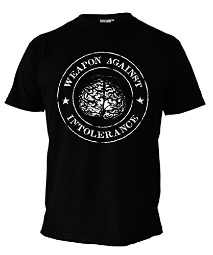 bd0c6a1bbd0 Stoned Washed Shirtz T-Shirt - Weapon Against Intolerance - Punk Hardcore  Polit schwarz (