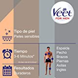 Veet for Men Crema Depilatoria para Hombre - Piel Sensible - 400ml