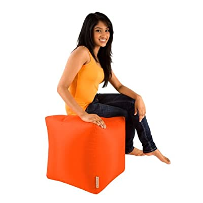 Bean Bag Bazaar Cube - Indoor Outdoor, Water Resistant Footstool Pouffe