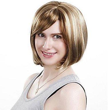 HJL-mode courtes perruques de cheveux synth¨¦tiques des femmes bob courtes perruques de cheveux synth¨¦tiques droites , 12 inch