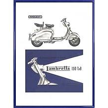 Scooter Stampa D'Arte e Cornice (Plastica) - Lambretta 150 Ld (80 x 60cm)