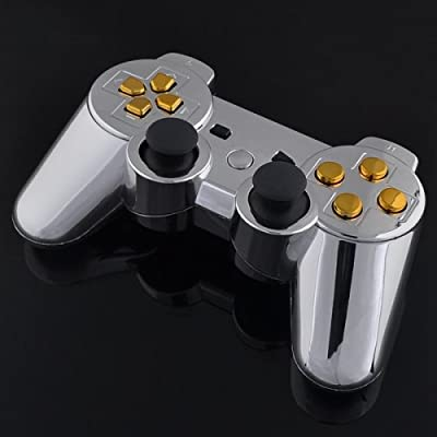 Playstation 3 Controller - Chrome with Gold Buttons