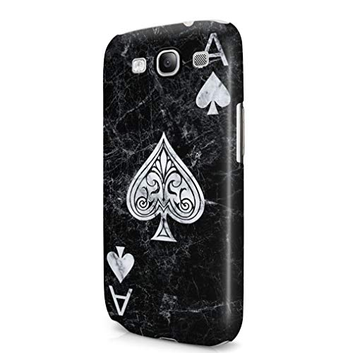 Maceste Ace of Spades Black Marble Kompatibel mit Samsung Galaxy S3 SnapOn Hard Plastic Phone Protective Fall Handyhülle Case Cover