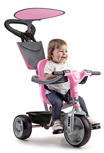 Feber- Baby Plus Music Triciclo, Colore Rosa/Bianco, 800012132