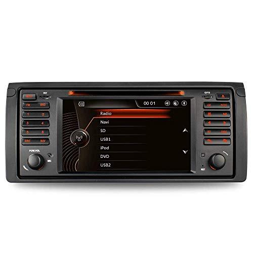 "7"" AUTORADIO DVD GPS Navigation Für BMW E39 (5er, M5) E53 (X5) USB SD BT Autoradio CD Moniceiver Dual Zone DAB Mirrorlink VMCD Din Radio Antenne"