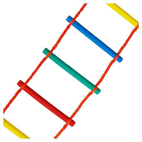 FIREDUXYL Escalera de Cuerda de Escape de Emergencia para niños, Juegos de Columpios para Parques Infantiles, Accesorios de la casa del arbol,2m