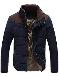 zarupeng Abrigo de algodón de invierno casual grueso chaqueta abajo de los hombres