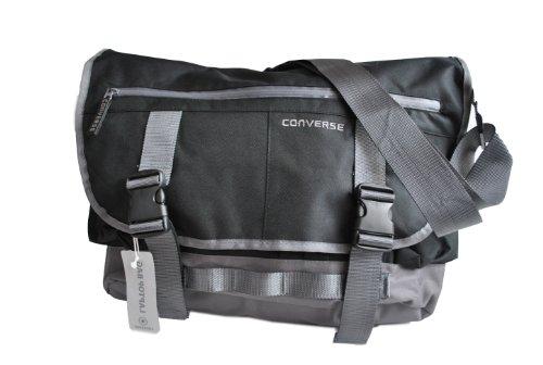 """Converse New Shoulder Bag Schultertasche mit Laptopfach 46 cm 15,6"""" Black"""