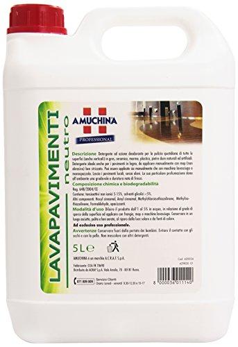 Amuchina - Lavapavimenti Neutro, Detergente ad Azione Deodorante -  5 l