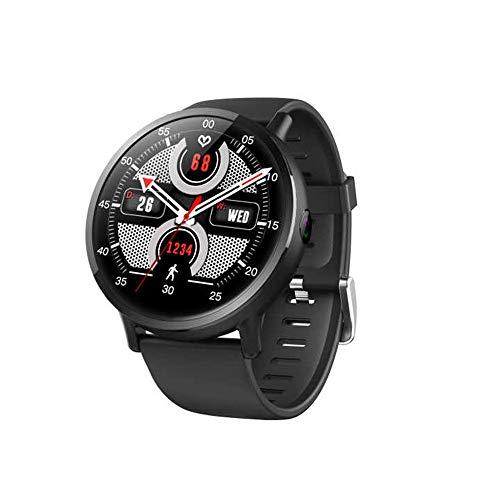 samLIKE LEMFO Smartwatch Android Bluetooth 4G Fitness Uhr mit SIM-Kartensteckplatz 丨 8MP Kamera 丨 Schrittzaehler 丨 GPS-Positionierung 丨 Pulsmesser 丨 Übersetzer 丨 4G App Herunterladen 丨 IP67 (Schwarz) (Herunterladen Apps Von)