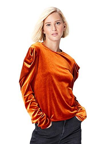 FIND 24858 camisetas mujer fiesta,, Naranja (Orange), 40 (Talla del Fabricante: Medium)